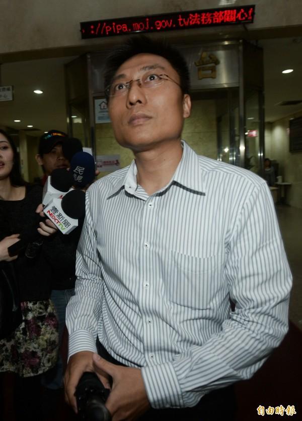 北檢昨傳訊國防部軍事安全總隊上校主任汪世偉。(記者林正坤攝)