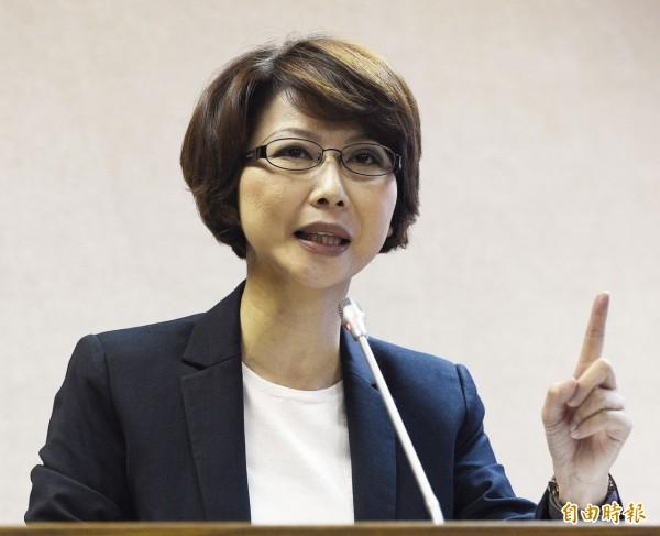 立法委員陳亭妃表示,軍安總隊在這件案子中居關鍵角色。(記者陳志曲攝)