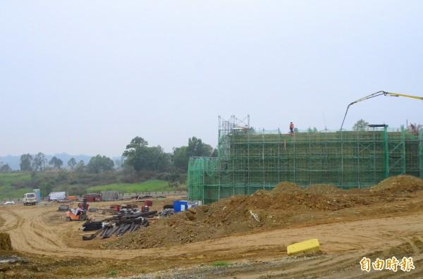 國防部證實了新化區的愛國者飛彈部署計畫,目前正在興建基地。(記者吳俊鋒攝)