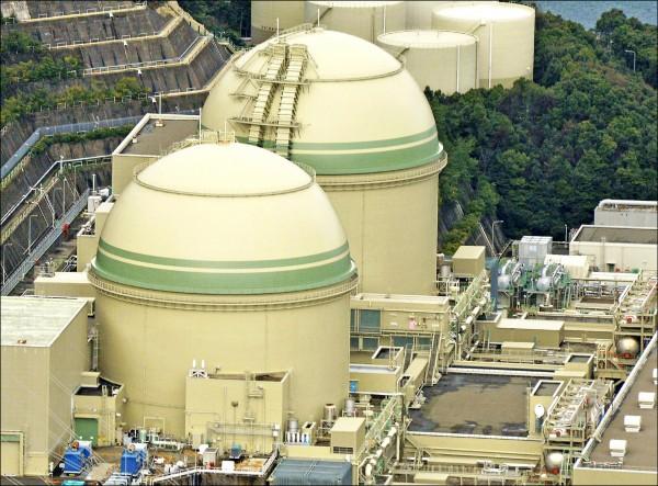 關西電力公司的高濱核電廠3號機將在10日展開停機程序,至於4號機在今年2月底發生故障後已停機,原本計畫本月中恢復運作。(美聯社)