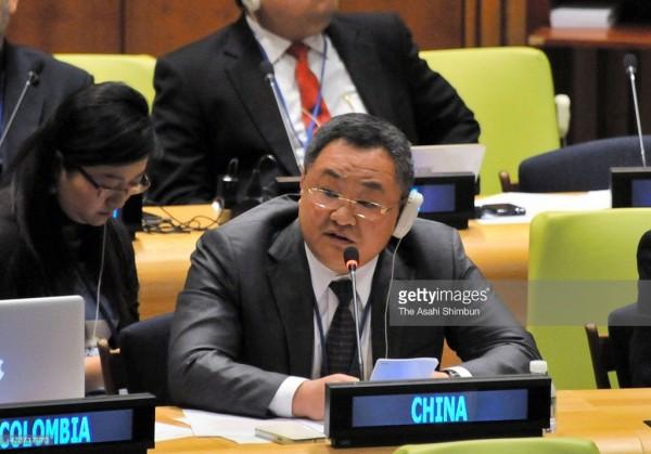 遭聯合國12國聲明批評人權狀況,中方代表傅聰強烈反擊。(圖擷自Getty Images)