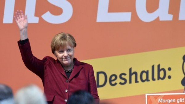 德國今天舉行3邦地方議會選舉,結果將被視為總理梅克爾(Angela Merkel)的難民政策首張成績單。(法新社)