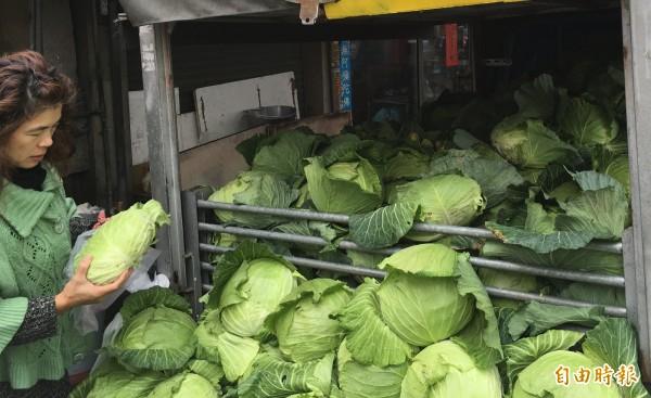 台北市政府指出,今日北市果菜批發市場到貨量增加,但因產地連續降雨、採收狀況不佳,加上市場需求增加,導致價格反而上漲。圖為示意圖。(資料照,記者黃淑莉攝)
