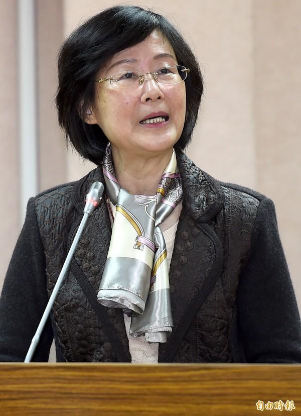 法務部長羅瑩雪赴立院法制委員會報告並備質詢。(記者朱沛雄攝)