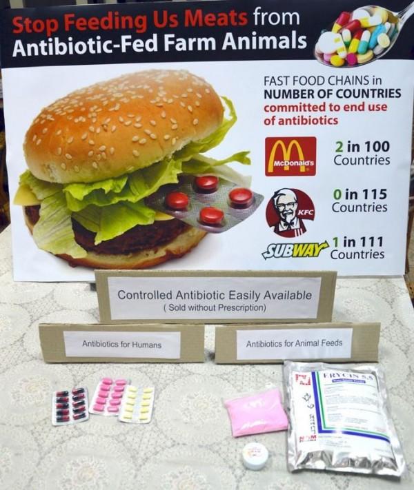 馬來西亞檳城消費者協會希望速食業者停止供應生長過程中施打抗生素的肉品。(圖擷取自CAP官網)