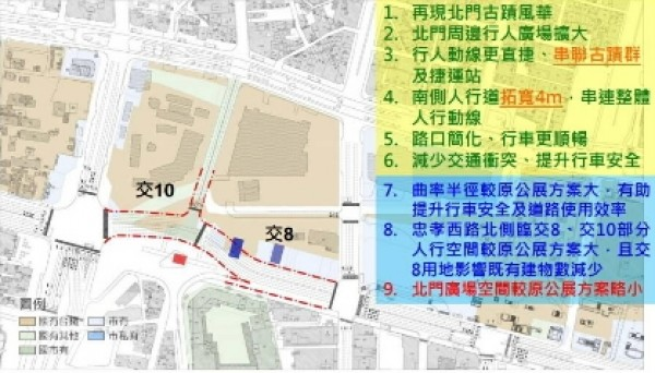 都發局建議將三井倉庫向東移動五十一公尺的遷移保存方案。(文化局提供)