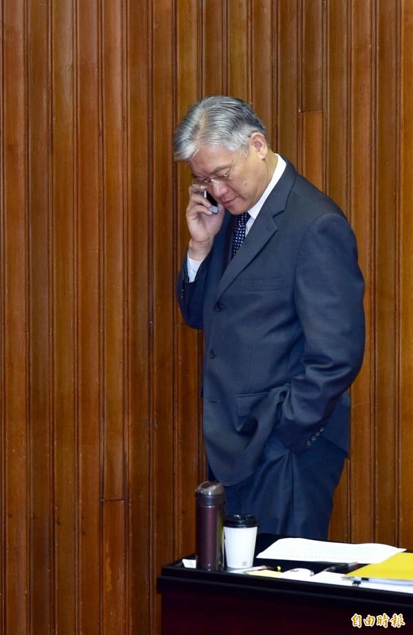 陸委會主委夏立言直言,國台辦主任張志軍沒有接熱線,「要表達我的不滿!」(記者羅沛德攝)