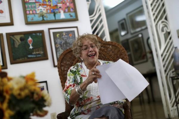 76歲的古巴老太太亞拉茲邀請美國總統歐巴馬到她家喝咖啡,於週四收到對方的親筆回信。(路透)