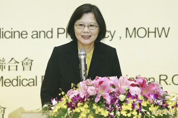 總統當選人蔡英文希望中國對台灣民眾能夠表達足夠的善意。(資料照,記者陳志曲攝)
