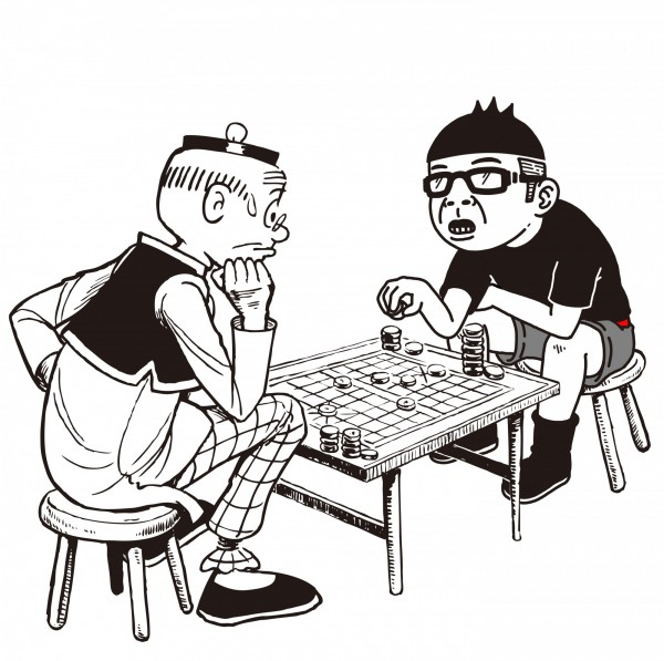 老夫子的第2代創作者王澤,日前與Duncan結盟,聯手繪圖,畫出「Duncan夫子」聯名作品。(老夫子哈媒體提供)