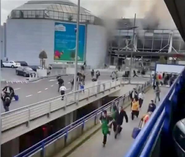比利時布魯塞爾機場(見圖)和市中心地鐵站於當地時間週二上午接連傳出爆炸,造成嚴重死傷。(路透)