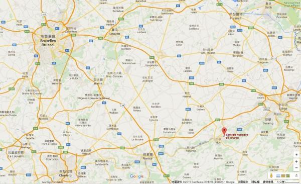 一核電廠人員疏散中,外媒指出為反恐警戒升級標準程序。(圖擷取自Google地圖)