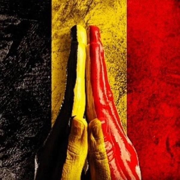 網友們紛紛為布魯塞爾恐襲祈福。(圖擷取自推特)