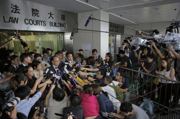 由香港記協調查的香港新聞自由指數,已連兩年下跌。(美聯社)