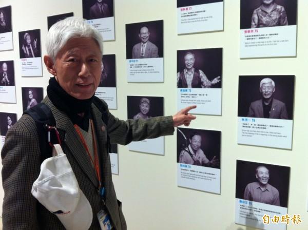 高齡76歲的活動導覽員林茂一。(記者楊綿傑攝)