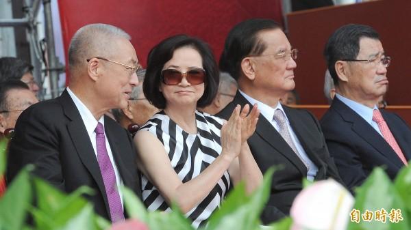 副總統吳敦義夫婦。(資料照,記者劉信德攝)