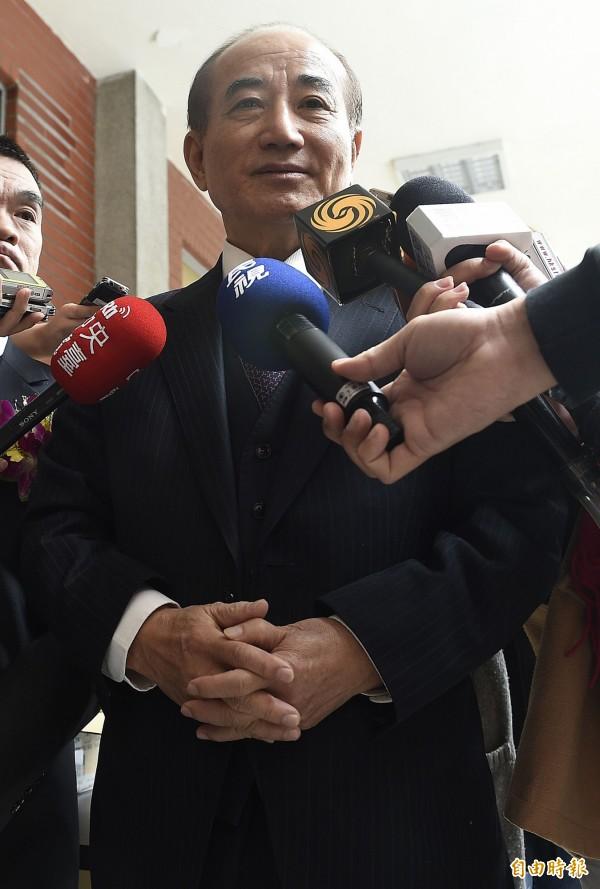 前立法院長王金平下午在立法院受訪表示,經國先生是歷任總統中聲望最好、滿意度最高的。(資料照,記者陳志曲攝)