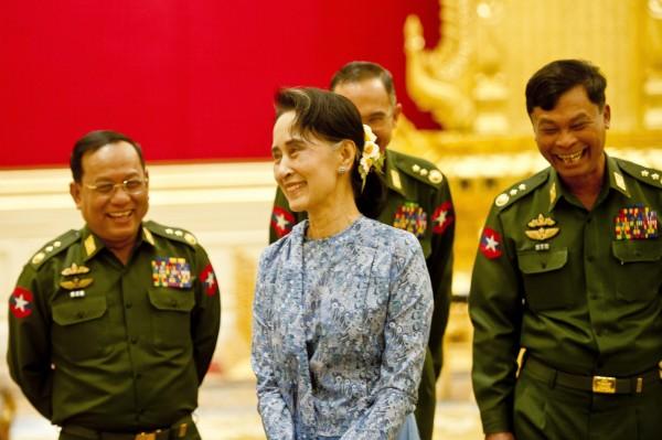 緬甸國會今日提出任命案,將任命翁山蘇姬擔任新創的「國家顧問」一職,能實掌政治大權。(歐新社)
