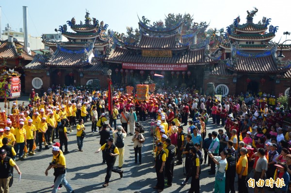 「旱溪媽祖是台灣遶境時間最久的媽祖。(記者張瑞楨攝)