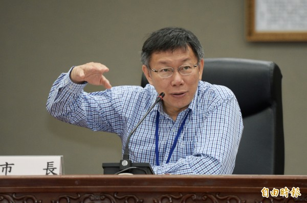 台北市長柯文哲。(記者林正坤攝)