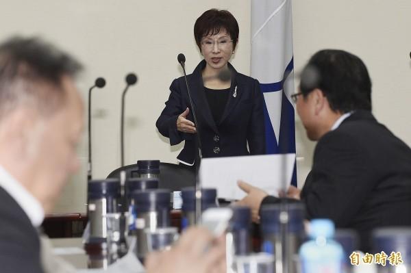 國民黨主席洪秀柱宣布,國民黨要推動「志工化」,而且就從她開始做起,因此她將放棄支領黨主席薪水。(資料照,記者陳志曲攝)