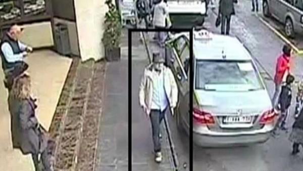 比利時當局發佈最新監視器畫面,呼籲大眾提供嫌犯目擊訊息。(圖擷取自BBC)