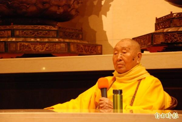 惟覺老和尚昨日圓寂,寺方訂於4月23日舉行火化。(資料照,記者陳鳳麗攝)