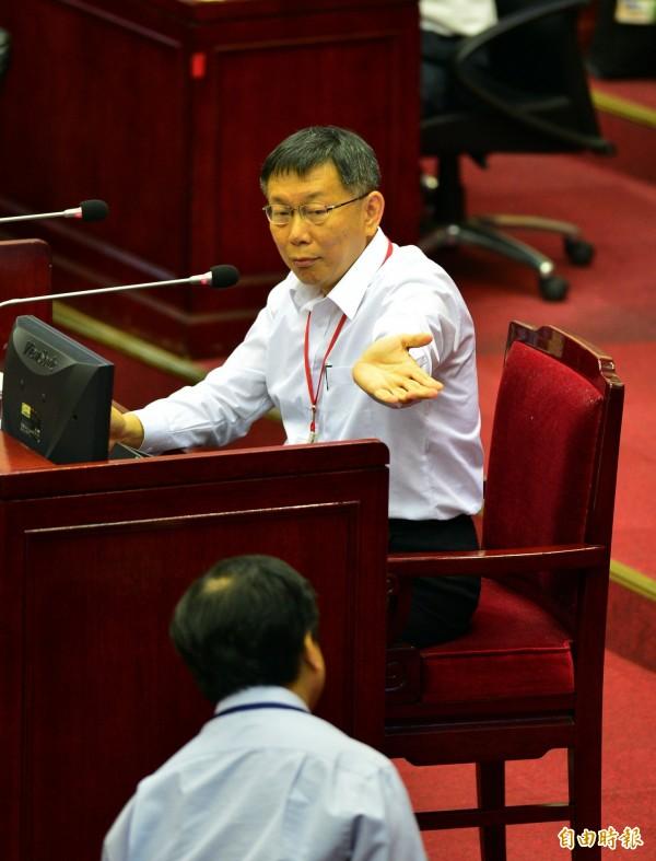 台北市議會明天(11日)即將開議,各黨派議員皆做好準備,要就各項議題猛攻市長柯文哲。(資料照,記者王藝菘攝)