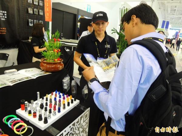 台灣國際扣件展吸引1900位國際專業買主來台參觀採購。(記者葛祐豪攝)