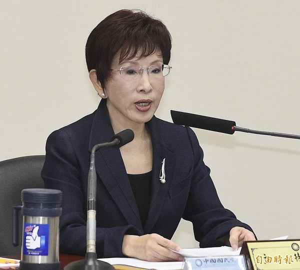 國民黨主席洪秀柱今晚發出措辭強硬的聲明,指責北京當局不應未經協商就單方面強行押人。(資料照,記者陳志曲攝)