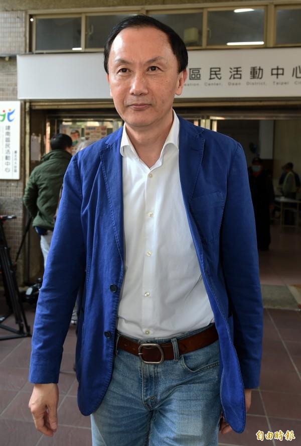 國民黨台北市議員李新在議會質詢時,指出「全台北市當然都該有言論自由,但就是柯文哲一個人沒有!」(資料照,記者廖振輝攝)