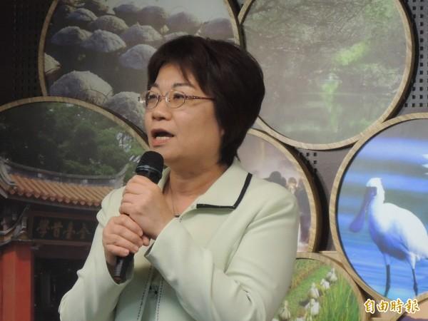 陳美伶將接任行政院秘書長,卻也對離開台南感到不捨。(記者洪瑞琴攝)