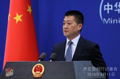 中國外交部發言人陸慷表示,高度讚賞肯亞的表現。(圖擷取自中國外交部官網)