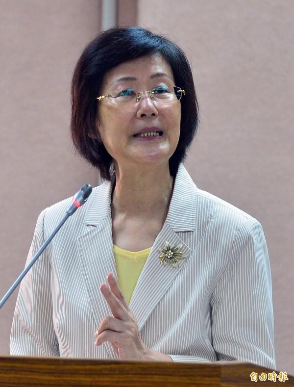 法務部長羅瑩雪原要請假,但遭拒絕,她仍要出席明(14)日的司法法制委員會。(資料照,記者王藝菘攝)