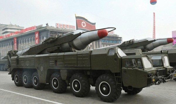 南韓政府人士透露,北韓已部署1至2枚「舞水端」中程彈道導彈,可能為了迎接金日成冥誕而進行試射。(歐新社)