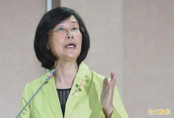 法務部長羅瑩雪14日赴立院就肯亞案報告備詢,多次與立委言詞交鋒、激怒立委。(資料照,記者劉信德攝)