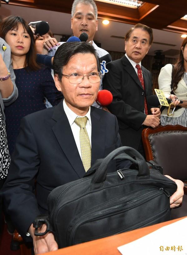 中研院長翁啟惠18日赴立法院報告。(記者張嘉明攝)