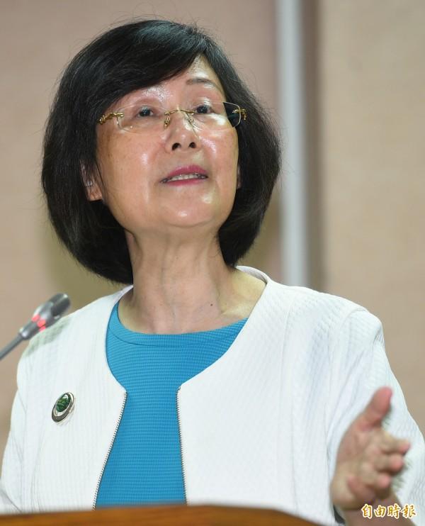 法務部長羅瑩雪在立法院槓上眾立委,讓民眾也看得瞠目結舌。(資料照,記者張嘉明攝)