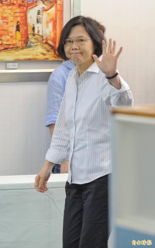 總統當選人、民進黨主席蔡英文。(資料照,記者劉信德攝)