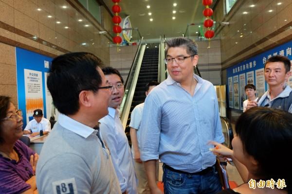 國民黨新任政策會執行長蔡正元曾是連勝文的競選總幹事。(記者簡榮豐攝)