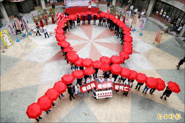 國防大學爆出歧視愛滋病學生醜聞。圖為去年世界愛滋日相關活動。(資料照,記者蔡宗勳攝)