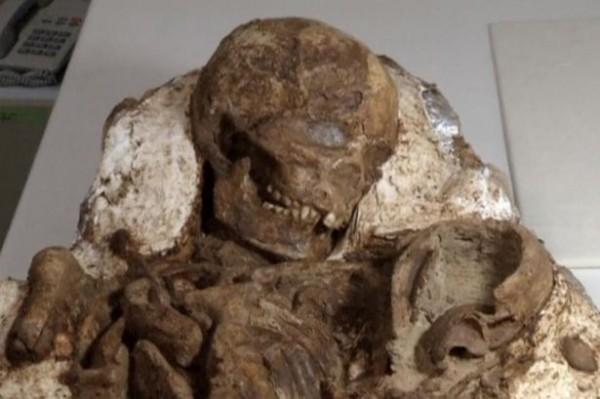 有外媒報導指出,台灣科博館的考古學家在台中發掘出一對4800年前的人類化石,是台灣迄今為止最古老的人類化石。(路透)
