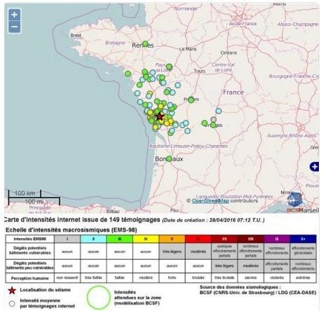 儘管在西南法常發生小地震,規模5的地震卻很罕見。(圖擷自Thelocal.fr)