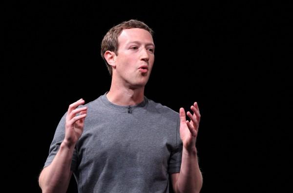 臉書創辦人馬克祖克柏表示,未來聊天機器人將優先提供給公眾人物使用。(法新社)