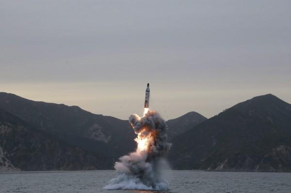 北韓在一天內發射兩枚飛彈均以失敗收場。(歐新社)