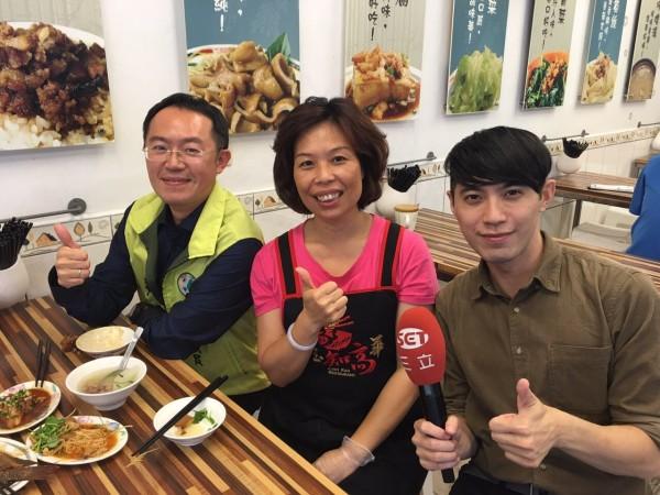 新北市議員李坤城推薦好吃的魯肉飯。(李坤城提供)