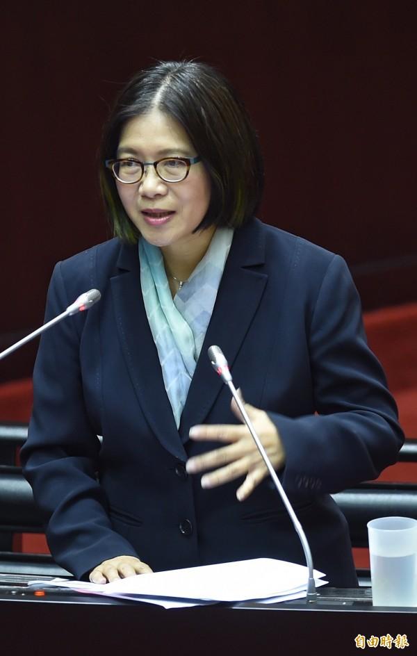 立委管碧玲說,地震預警簡訊,她從2013年就開始催生,到現在才終於上路。(資料照,記者劉信德攝)