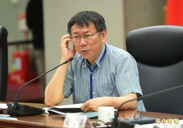 台北市長柯文哲想以3億3000萬「邀請」華視負責世大運轉播。(資料照,記者張嘉明攝)