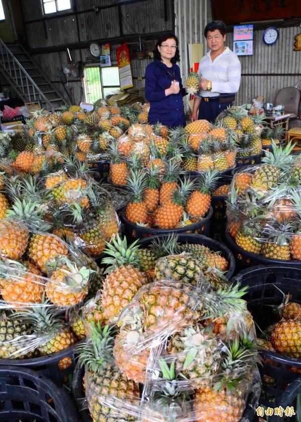 當年阿扁總統的國宴菜色,就是將關廟鳳梨作為入菜料理之一。(記者林孟婷攝)