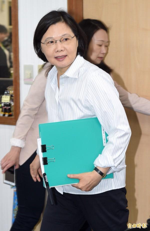 美前官員稱中國想要將蔡英文塑造成一個麻煩製照者。(資料照,記者羅沛德攝)